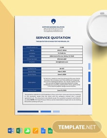 Work From Home Service Quotation Template