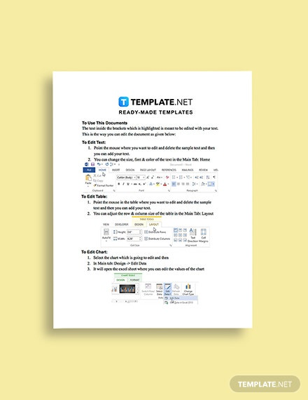Work From Home Price Quotation Template Guide