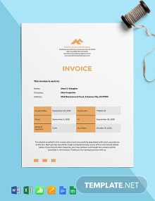 Home Staging Invoice Template