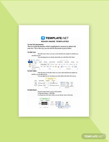 SelfEmployed Invoice Template Instruction