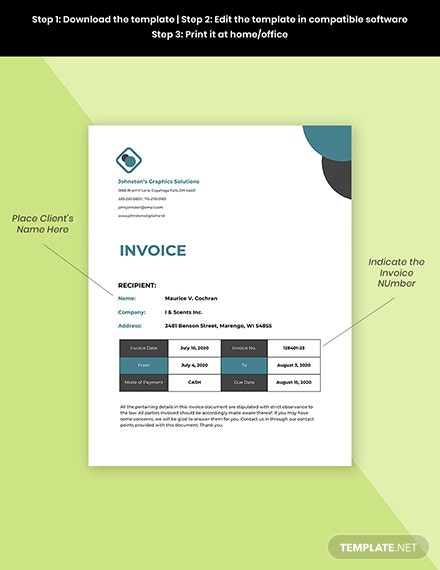 SelfEmployed Invoice Template Sample