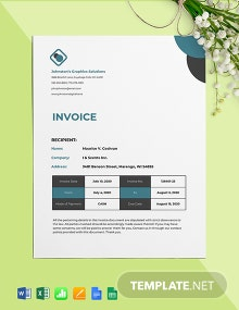 Self-Employed Invoice Template