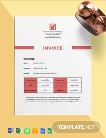 Work From Home Job Invoice Template