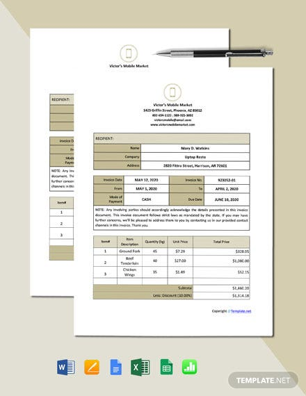 Free Blank Work From Home Invoice Template