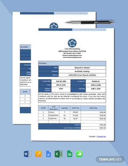 Free Simple Work From Home Invoice Template