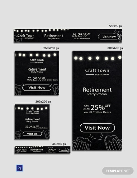 Free Retirement Party Banner Template