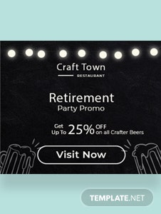 Retirement Party Banner Template