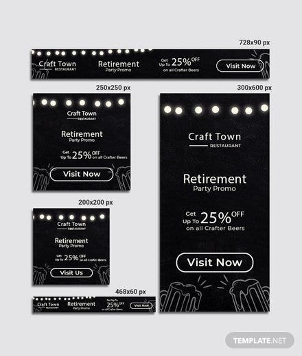 retirement party banner template in adobe photoshop template net