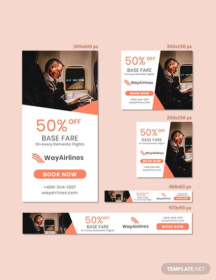 Airlines Banner Design Template