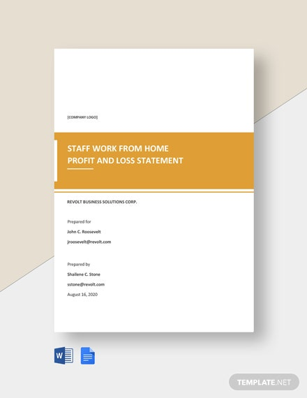 Staff Work From Home Statement Template