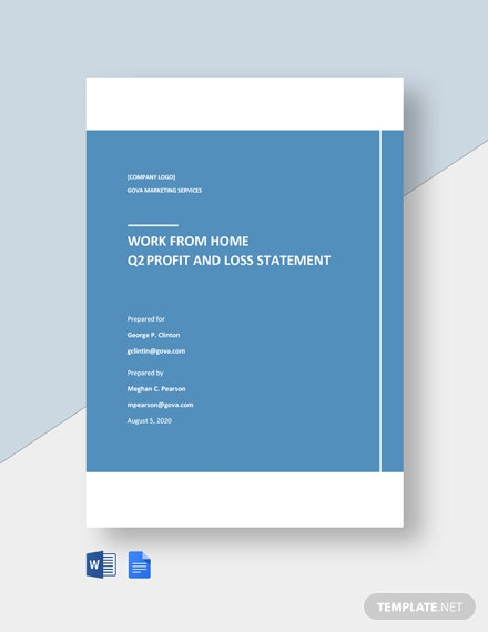 Free Basic Work From Home Statement Template