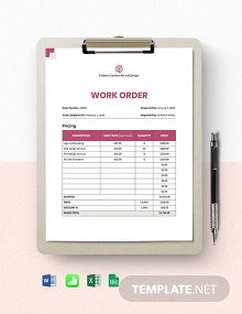 Graphic Design Work From Home Order Template