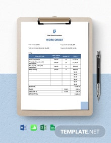 Work From Home Service Order Template