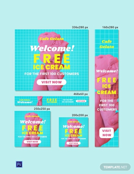 Free Cafe Web Banner Template