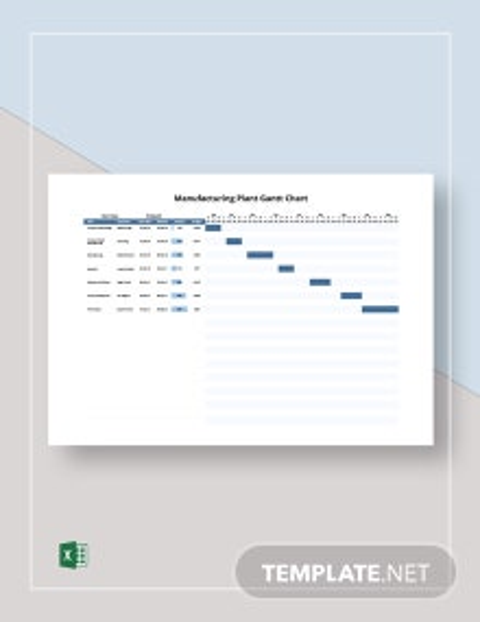 Manufacturing Plant Gantt Chart Template