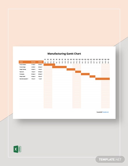 Free Example Manufacturing Gantt Chart Template