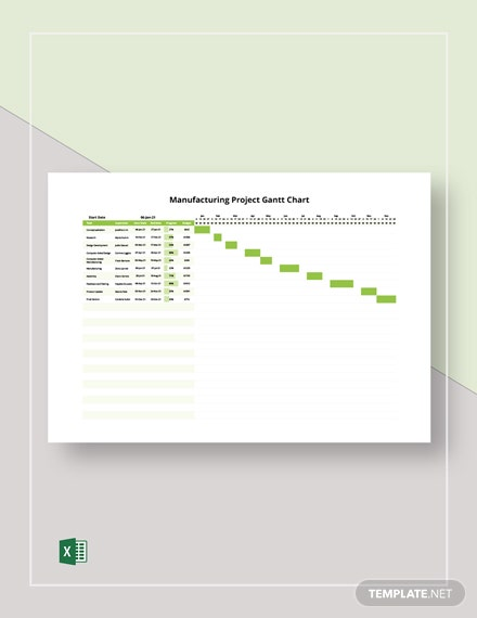 Manufacturing Project Gantt Chart Template