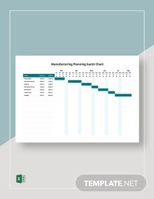 Manufacturing Planning Gantt Chart Template