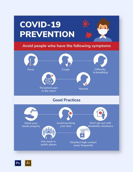 Free Simple Coronavirus COVID-19 Flyer Template