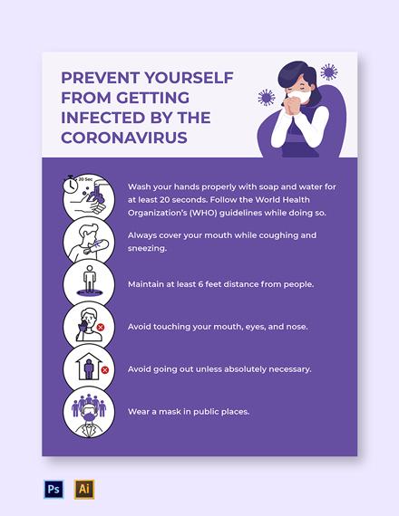 Free Creative Coronavirus COVID-19 Flyer Template
