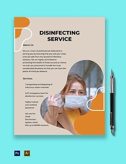 Coronavirus Disinfecting Service Business Flyer Template