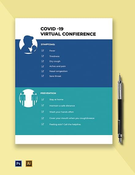 Coronavirus COVID-19 Pandemic Flyer Template