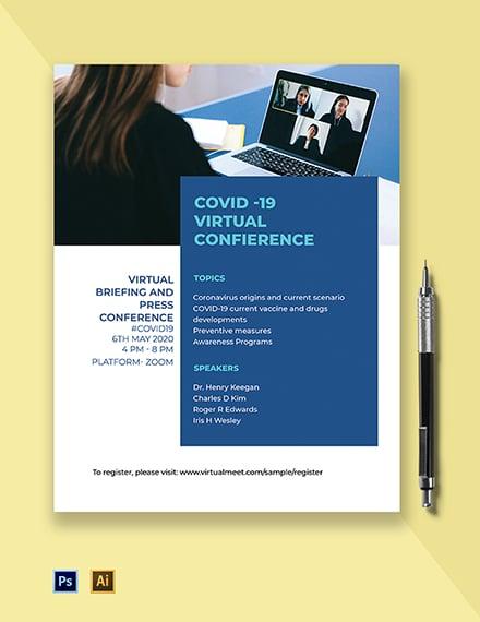 Coronavirus COVID-19 Conference Flyer Template
