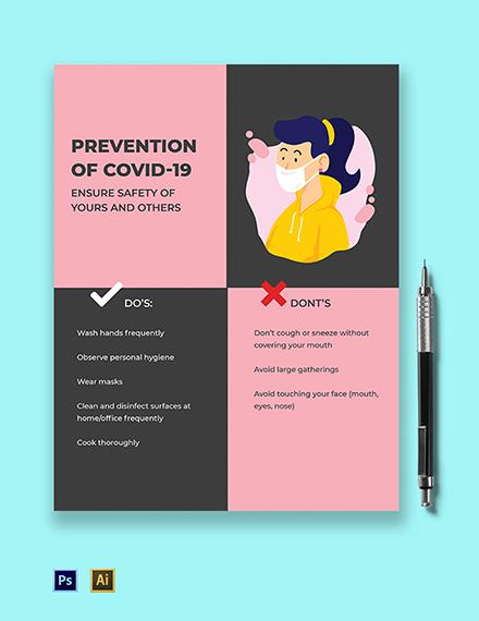 COVID-19 Coronavirus Square Flyer Template