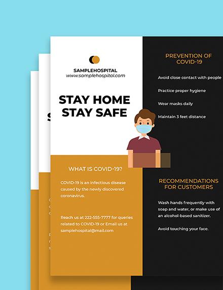 Coronavirus COVID Awareness Promotional Flyer