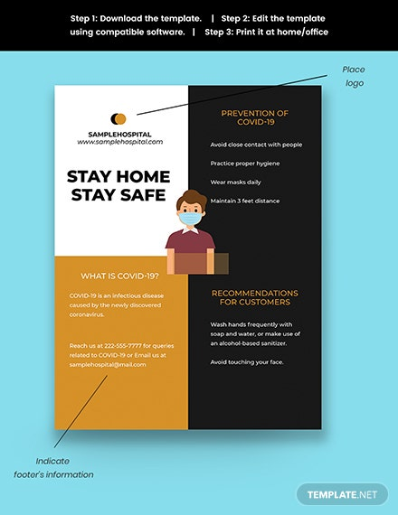 COVID Awareness Promotional Flyer Template