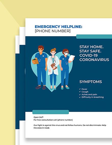 COVID Coronavirus Medical Campaign Flyer