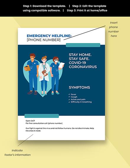 Coronavirus Medical Campaign Flyer Template
