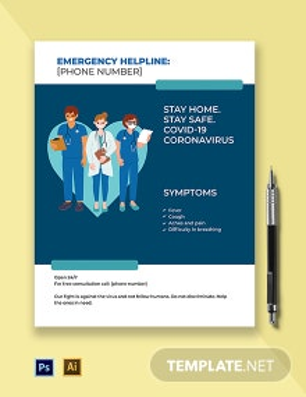 COVID-19 Coronavirus Medical Campaign Flyer Template