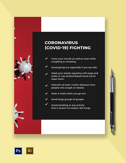 Coronavirus COVID-19 Fighting Flyer Template