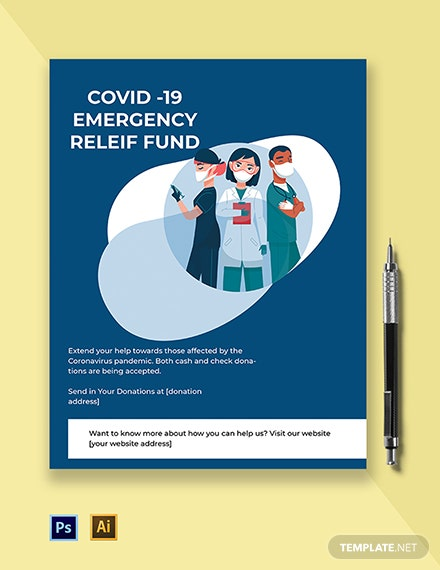 Coronavirus COVID-19 Emergency Relief Fund Flyer Template