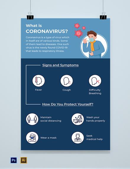 Free Modern Coronavirus COVID-19 Poster Template