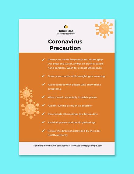 COVID Preventation Poster Template Printable