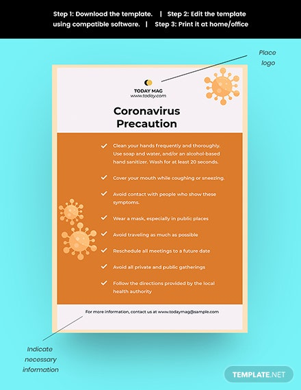 COVID Preventation Poster Template Snippet
