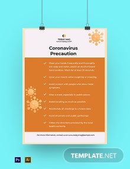 Coronavirus COVID-19 Prevention Poster Template