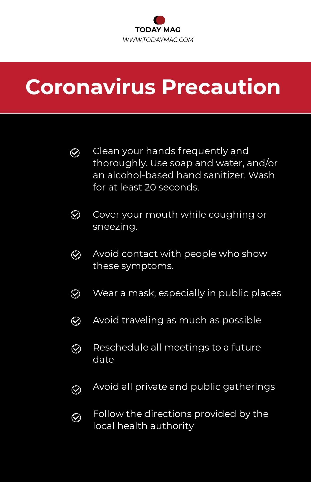 Temporarily Closed Coronavirus Presentation Poster Template