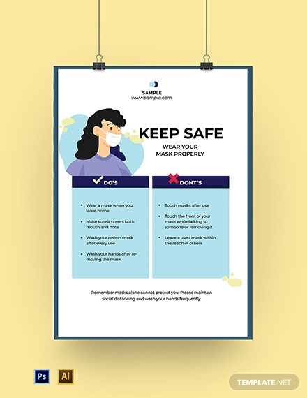 Wear Your Mask Poster Template