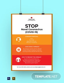 Novel Coronavirus COVID-19 Awareness Poster Template