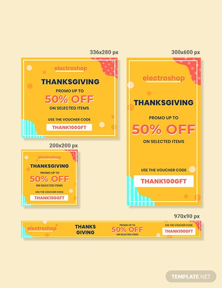 Free Thanksgiving Web AD Banner Template