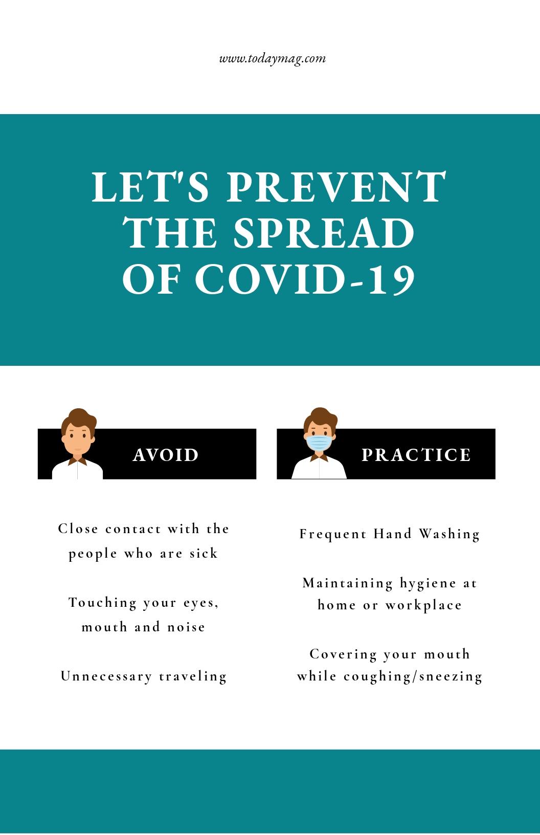 Coronavirus COVID-19 Prevention Social Media Poster Template