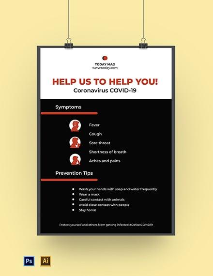 Coronavirus COVID-19 Health Care Poster Template