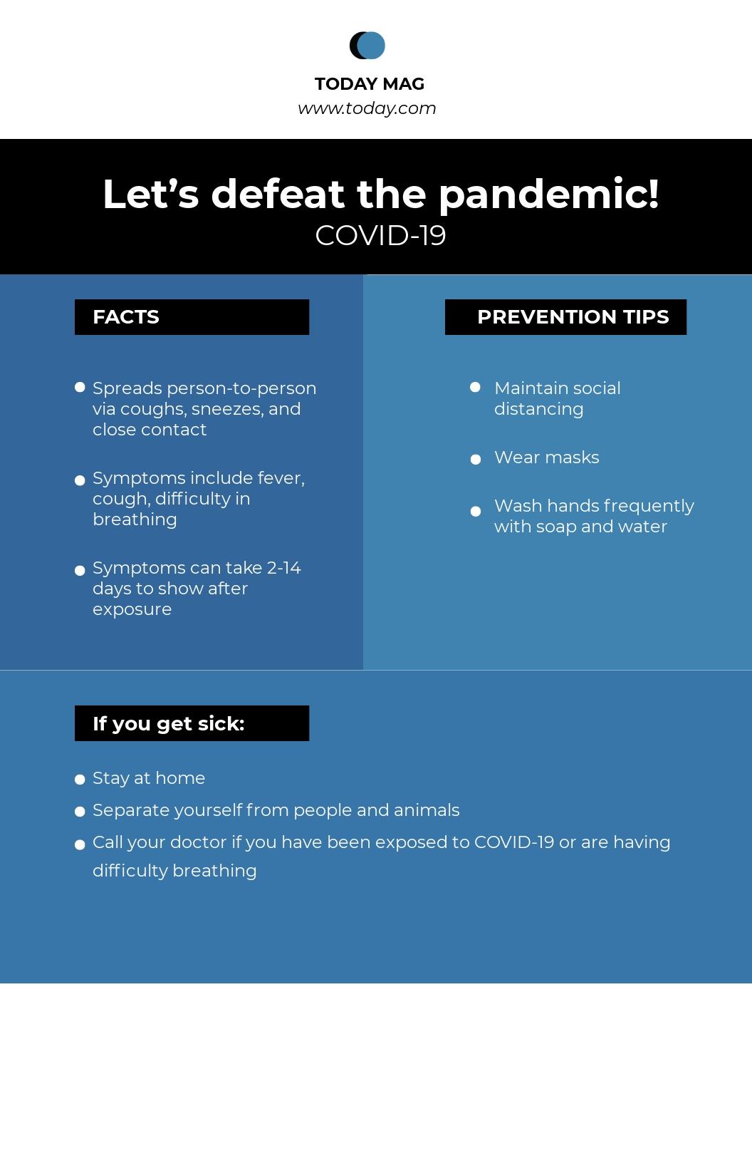 Coronavirus COVID-19 Awareness Promotional Poster Template