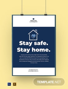 Coronavirus COVID-19 Stay at Home Activities Poster Template