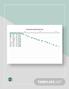 Construction Project Gantt Chart Template