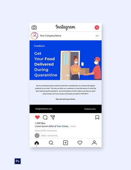 Free Coronavirus COVID-19 Instagram Post Template