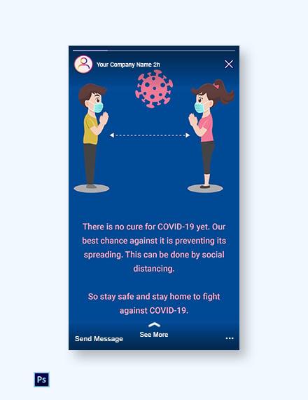 Free Coronavirus COVID-19 Instagram Story Template